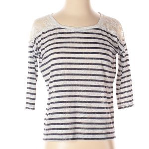 Express | lace striped blouse